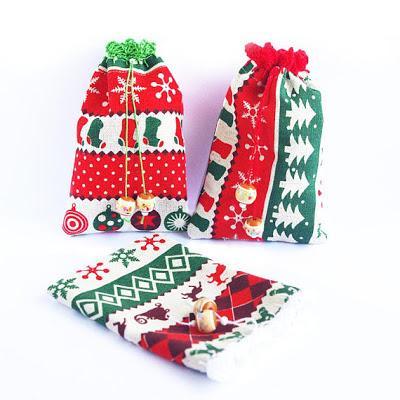 Pochette cadeau en tissu réutilisable esprit #zerowaste #zerodechet par cocoflower