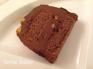 Bûche à la ganache chocolat-panais-butternut