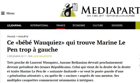 Avec Aurane Reihanian, Bébé Wauquiez, la « république » sent la m….. #LR #identitaires #antifa