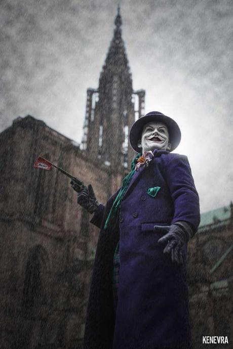 Les héros de Batman intégrés au décor de Strasbourg