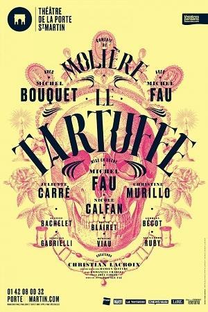 Le Tartuffe de Molière, au Théâtre de la Porte Saint-Martin, à Paris