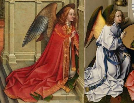 Annonciation Merode Prado Comparaison Ange