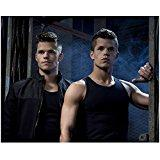 Max Carver 8 inch X 10 inch photograph Teen Wolf (TV Series 2011 - ) w/Charlie Carver in Doorway kn