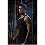 Charlie Carver 8 inch X 10 inch photograph Teen Wolf (TV Series 2011 - ) Tank Top in Doorway kn