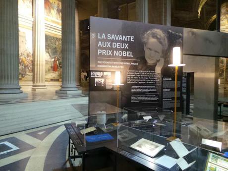 Exposition Marie Curie Panthéon Paris scientifique monument historique CMN