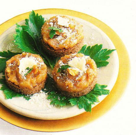 Crostini au pesto de noix