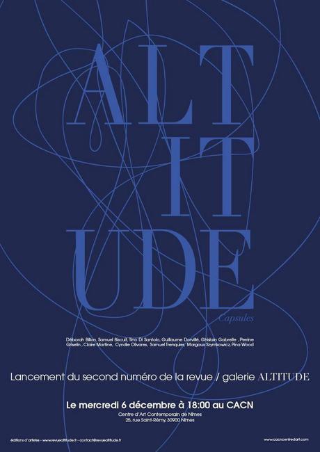 Soirée de présentation de la Revue Altitude numéro deux – Capsules le 6 décembre