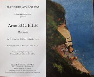 Galerie AD SOLEM   Exposition Arno BOUEILH  « Hors Saison » 12 Décembre au 20 Janvier 2018