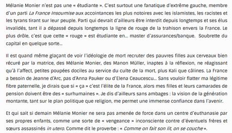 Média-Presse Infos appelle à la haine contre une féministe laïque de #LFI