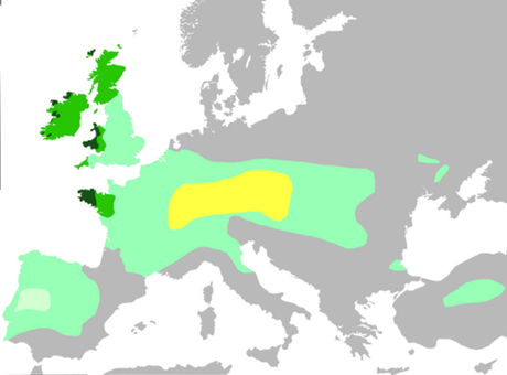 carte des celtes en europe durant l'antiquité