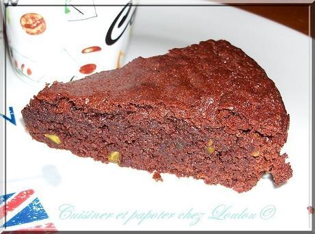 Succulent brownie aux amandes ou..... pistaches lol !