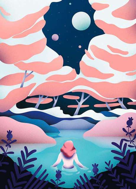 Cosmos inspired illustrations by Victoria Roussel