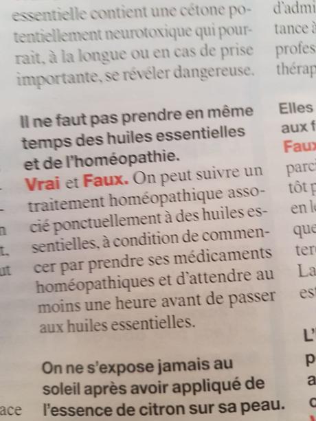 Homéopathie et overdose
