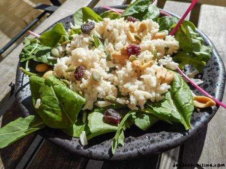 salade et riz ou comment utiliser les restes de riz
