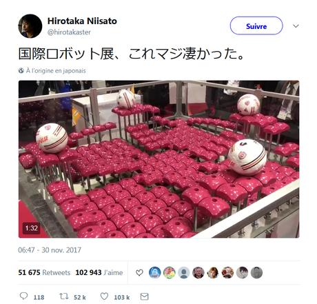 La table robot et les ballons