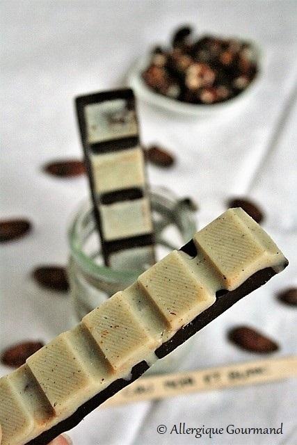 Chocolat noir et blanc cru, bio {sans gluten, sans lait, sans oeufs