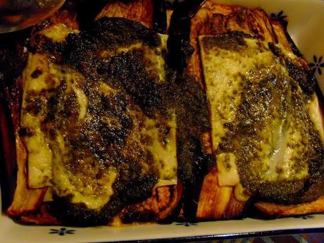 Lasagne d'aubergines et pesto