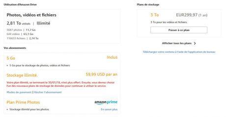 Amazon drive sans limite la fin : Que faire