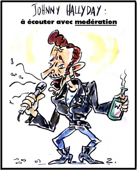 Caricature Johnny Hallyday Paperblog