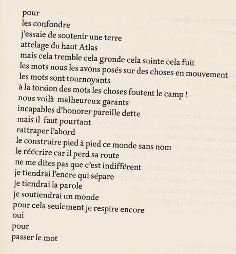 le poème qui refuse de sortir de ma vie