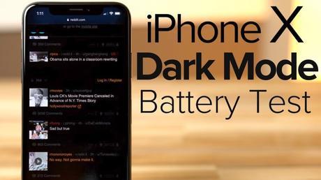 iPhone X : une autonomie accrue avec le mode «Dark»
