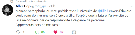 @edouard_louis et @gdelagasnerie  agressés par les autorités de @Lille3