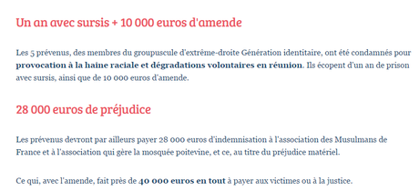 #generationIdentitaire : Justice laxiste ! #antifa