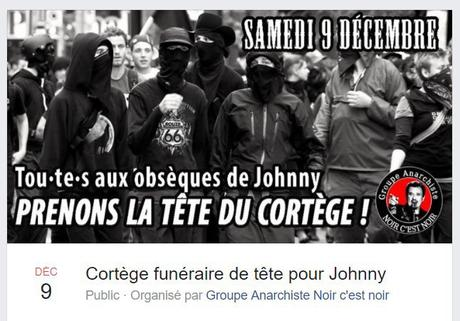 #JohnnyHallyday : Scandale national  : les blacks blocs en cortège de tête !