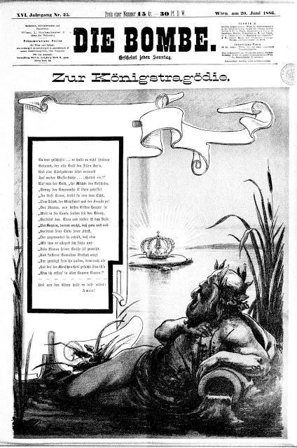 La tragédie royale, dans le journal Die Bombe du 20 juin 1886
