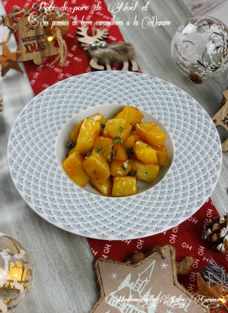 Rôti de porc de Noël et ses pommes de terre caramélisées à la Danoise