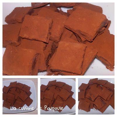 Pavés au chocolat noir au lait concentré sucré au thermomix ou sans