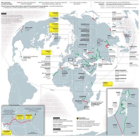 Murs, barrières, clôtures : comment le monde se referme - Cartographie.