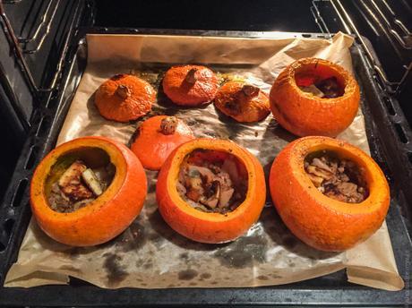 Recette de fêtes – Potimarron rôti, poires et tofu caramélisé