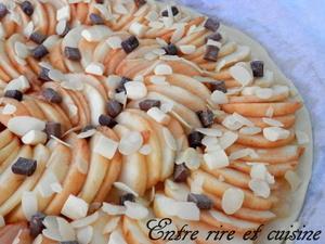 Tarte fine aux pommes et aux 3 chocolats
