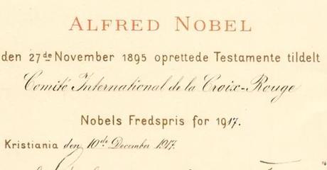 Il y a 100 ans, le CICR recevait le Prix Nobel de la Paix