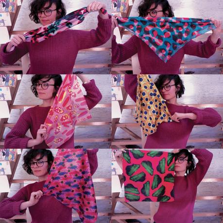 TADAA ! J'ai mis mes foulards en soie en ligne, ainsi que...