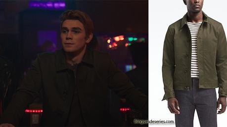 RIVERDALE : Archie wearing an olive zip jacket in s2ep08