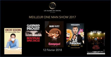 LES GLOBES DE CRISTAL 2018 - Les prix de l'Art et La Culture - Les Nommés de la 12ème Edition