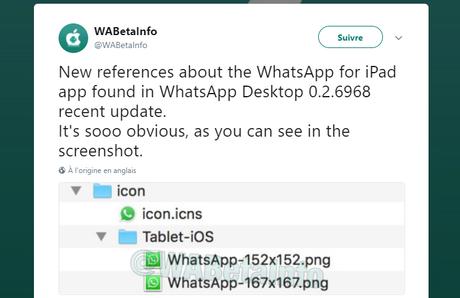 WhatsApp : la version Mac suggère une sortie imminente sur l'iPad