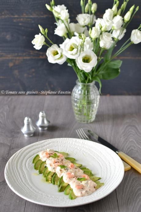 Avocat aux crevettes et mayonnaise revisité