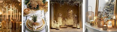decoration noel gold
