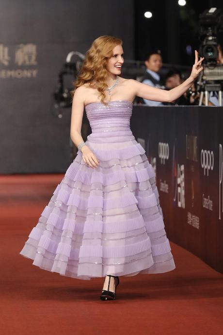 Jessica Chastain brille à la 54ème Cérémonie des Golden Horse Awards