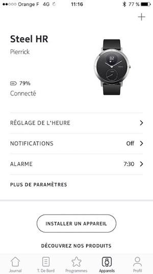 nokia steel hr test avis montre connectee application 4