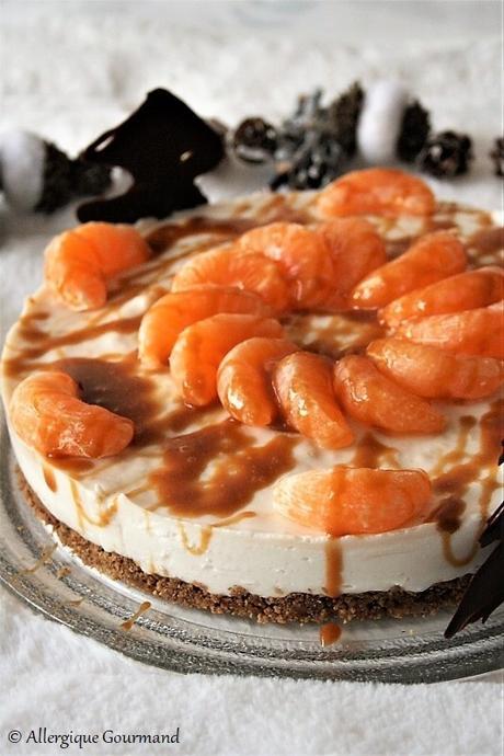 Cheesecake coco-clémentine bio {sans gluten, sans lait, sans oeufs}