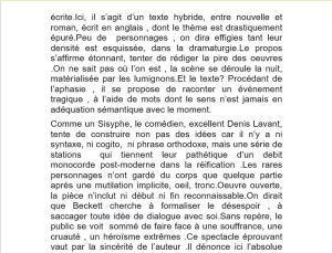 Regard vers le théâtre de Pierre-Marc Levergeois Décembre 2017