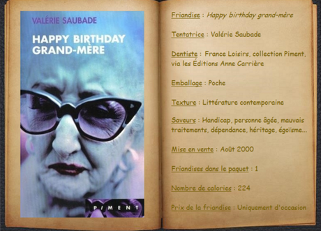 Happy birthday grand-mère - Valérie Saubade
