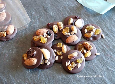 Mendiants au chocolat - Dans la cuisine d'Hilary