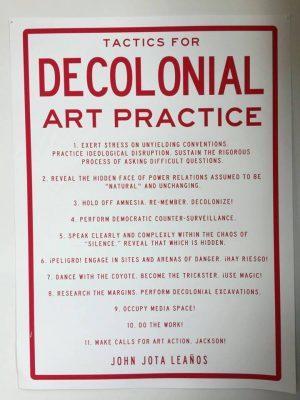 Pratiques visuelles décoloniales : créer, se montrer.
