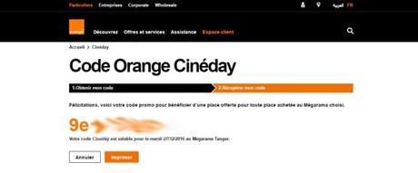 [Orange Cineday Comment ça marche : Une place gratuite au cinéma