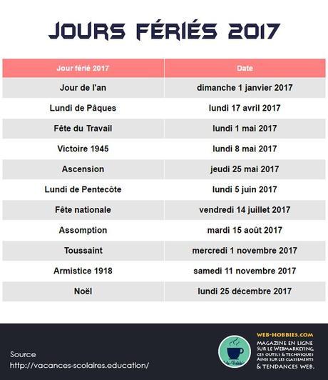 Fr Les Tous 11 Jours Feries 2017 Officiels En France